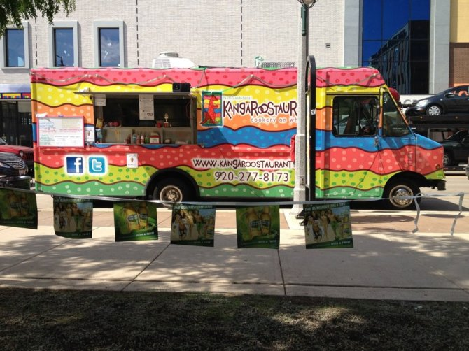 The K'Roo at Houdini Plaza for Lunchtime Live...ain't she purty???
