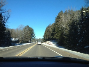 Plenty of time to reflect on the drive to Brule on Christmas Day. Clear, sunny and restful.