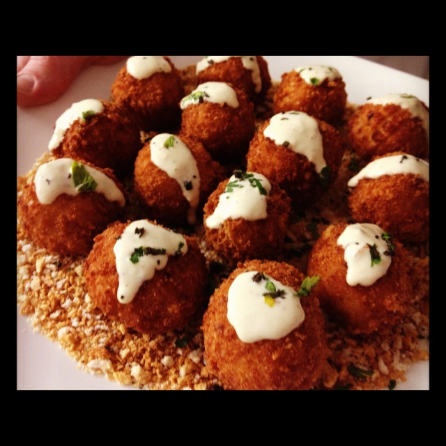 Butternut Squash Arancini ~ a very popular and incredibly delicious creation by Chef Lindsey.