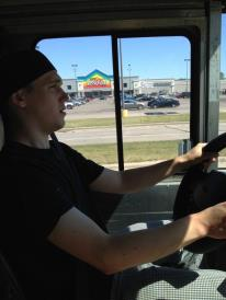 Mason's first day behind the wheel of the Kangaroostaurant ~ oh what a ride it's been.