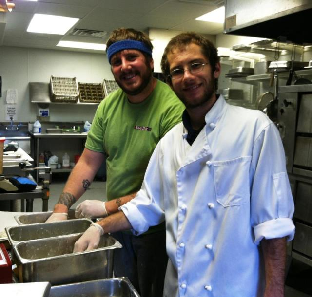 Eric and Alex, working hard and prepping for the day ~ these two have been with us since the start of the Kangaroost.