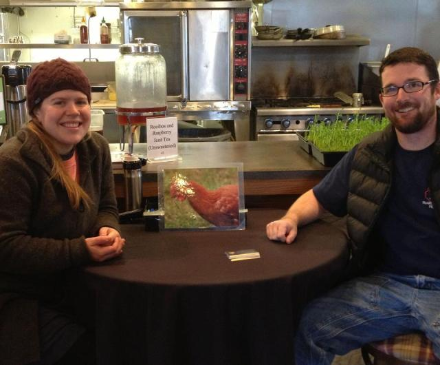 Chris and Maria from Nami Moon Farms, spent a morning with us. We look forward to hosting many farmers in our new spot.